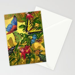 Tropical Butterfly Sunset Stationery Cards