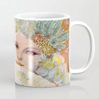 marie antoinette Mugs featuring Marie Antoinette by Jenndalyn