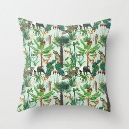 Dream jungle Throw Pillow