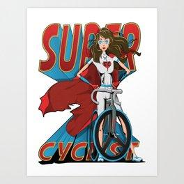 Super Cyclist Art Print