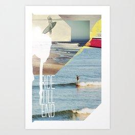 Ride Till End Art Print