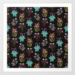 carnivorous plants black Art Print