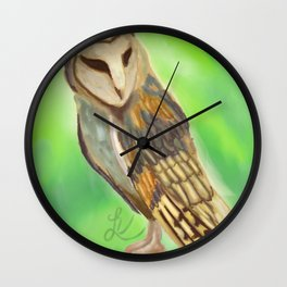 spring visitor Wall Clock