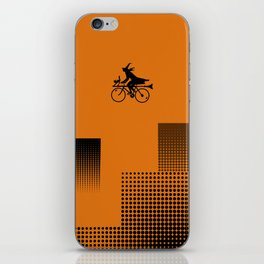 Witch on a Bicycle iPhone Skin