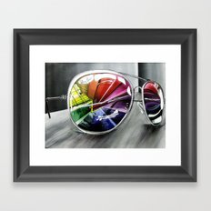 Psychedelic Sunglasses        Framed Art Print