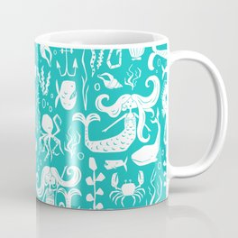 Under The Sea Aqua Coffee Mug