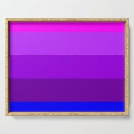Transgender flag  by Jennifer Pellinen Serving Tray