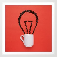 Coffee idea Art Print