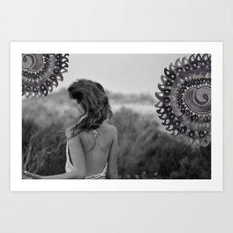 Mandala Effect Art Print