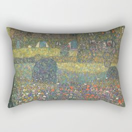Gustav Klimt - Country House By The Attersee Rectangular Pillow