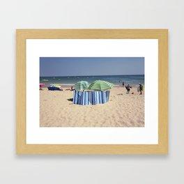 Twin Umbrella's and the Sun! Framed Art Print