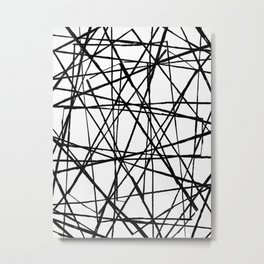 Wire Barrier Metal Print