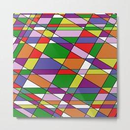 Stain Glass Mosaic Pattern Metal Print