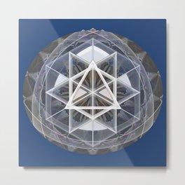 Merkaba Mandala Indigio Vision Print Metal Print