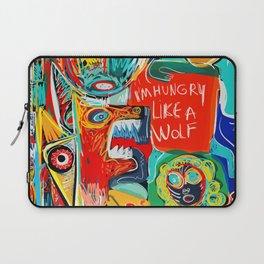 I'm hungry like a wolf Street Art Graffiti Laptop Sleeve