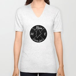 Maine Drink Local ME Unisex V-Neck