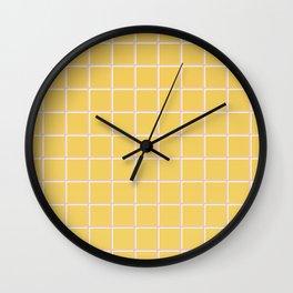 MINIMAL GRID YELLOW Wall Clock