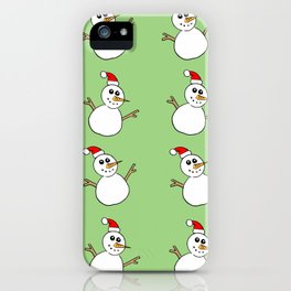 Xmas Snowman iPhone Case