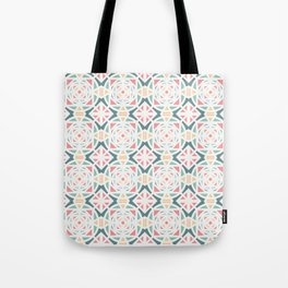 Pastel and shapes pattern Tote Bag
