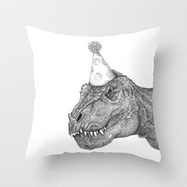 Party Dinosaur Throw Pillow