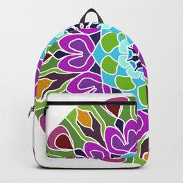 Beautiful colorful abstract mandala Backpack
