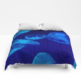 Blue Jellyfish | Fish | Nature | Water Animals Comforters