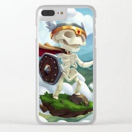 The Flying Skeleton Clear iPhone Case