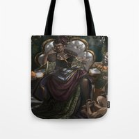 madonna Tote Bags featuring Madonna  by Anastasia Magloire