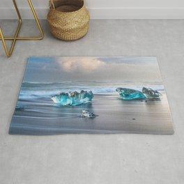 """Diamonds Are Forever"" - Diamond Beach, Iceland Rug"