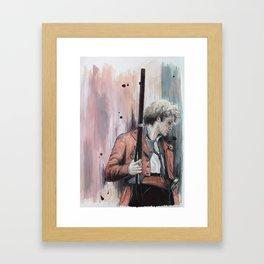 Leader in red (Enjolras) Framed Art Print