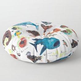A-Z Endangered Species  Floor Pillow