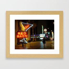 Las Vegas Neon Sign Framed Art Print