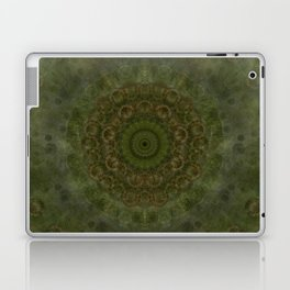 """Autumn mandala"" (Green-Grey Pattern) Laptop & iPad Skin"