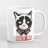 obey Mugs featuring OBEY by frail