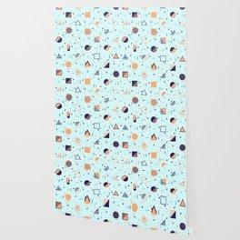 Geometry Funk Aqua Wallpaper