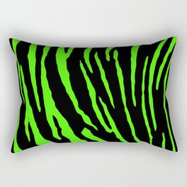 Green Tiger Stripes Rectangular Pillow