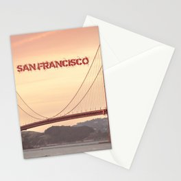 Golden Gate Bridge San Francisco With City Name Stationery Cards