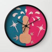 penis Wall Clocks featuring Felt Penis: Zing by BRENT PRUITT