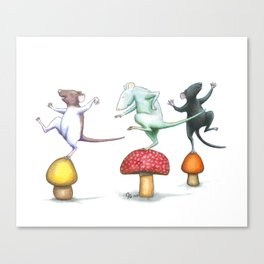 Do A Little Dance Canvas Print