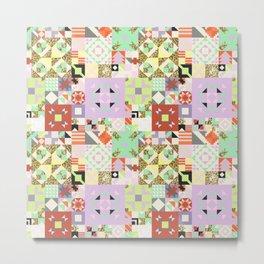 Geometric Quilt Pattern Metal Print