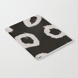 Round, Abstract, White & Black Notebook