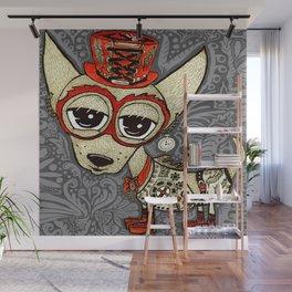 Steampunk Chihuahua Victorian Ornate Wall Mural