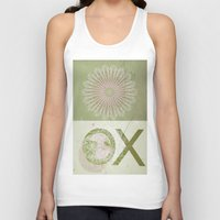 morocco Tank Tops featuring Morocco OX Green by ZenaZero