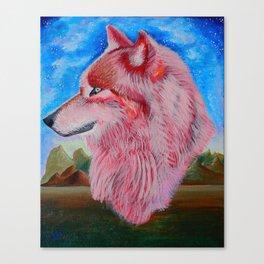 Love Wolf Canvas Print