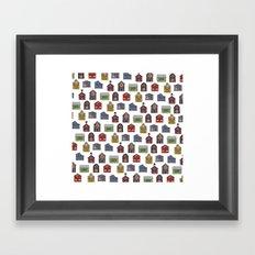 Barn Quilt Illustration Framed Art Print