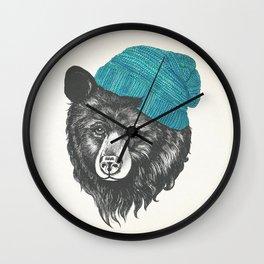 Zissou the bear in blue Wall Clock