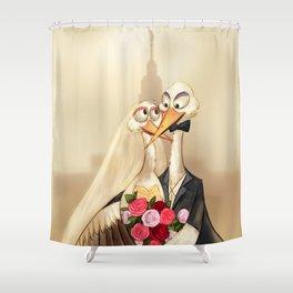 crane wedding Shower Curtain