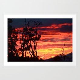 Central Oregon Sunset Art Print