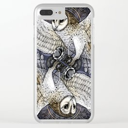 Owl Deck: King of Hearts Clear iPhone Case