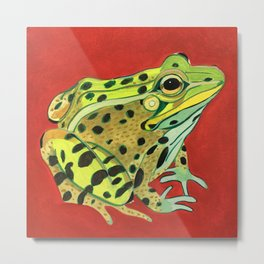 Spotted Frog Friend Metal Print